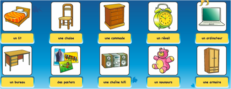 Vocabulaire de la maison catherine son french classes for Maison de la literie brignoles