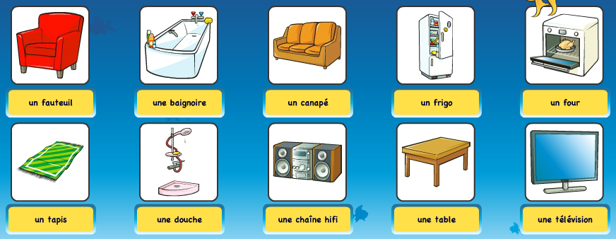 Vocabulaire de la maison catherine son french classes for Meubles de la maison